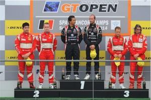 Race 1 winners Miguel Ramos & Nicky Pastorelli